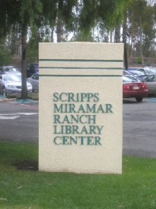 Scripps Ranch Library: Entrance Sign